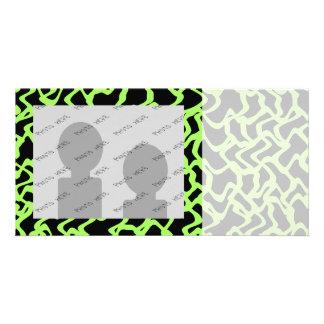 Abstraktes grafisches Muster-Schwarzes und Limones Photo Karte
