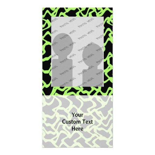 Abstraktes grafisches Muster-Schwarzes und Limones Photokartenvorlagen