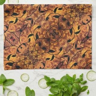 Abstraktes Herbst-Blatt-Silhouette-Muster Handtuch