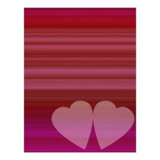 Abstraktes Herz Individuelle Flyer