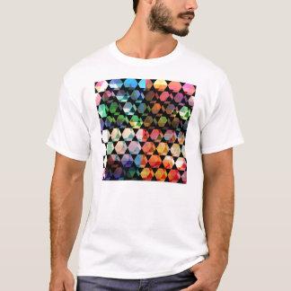 Abstraktes Hexagon-grafischer Entwurf T-Shirt