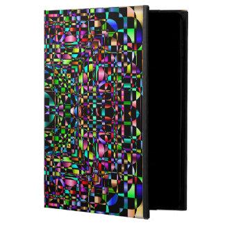 Abstraktes Hintergrund-farbiger Kreis-Gitter