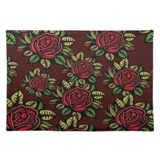 Abstraktes hübsches der Trendy Roten Rosen des Tischset