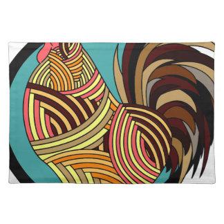 abstraktes Huhn Stofftischset