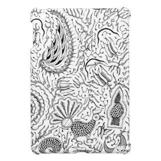 Abstraktes indonesisches Gewebe mit Vögeln iPad Mini Hülle