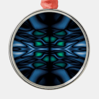 Abstraktes Kaleidoskopmuster Silbernes Ornament