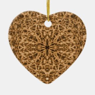 Abstraktes Kaleidoskoppelzmuster Keramik Herz-Ornament