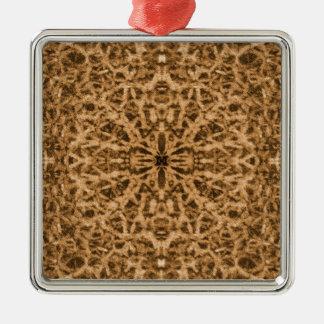 Abstraktes Kaleidoskoppelzmuster Silbernes Ornament
