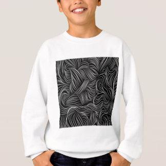 Abstraktes kaskadierendes Schwarzweiss-Muster Sweatshirt