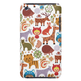 Abstraktes Kinder-und Tier-Muster Case-Mate iPod Touch Hülle