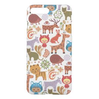 Abstraktes Kinder-und Tier-Muster iPhone 7 Plus Hülle