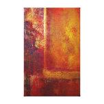 Abstraktes Kunst-Farbfeld-orange Rot-gelbes Gold Leinwanddruck