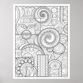 Abstraktes Kunst-Farbton-Plakat - wunderliches Poster