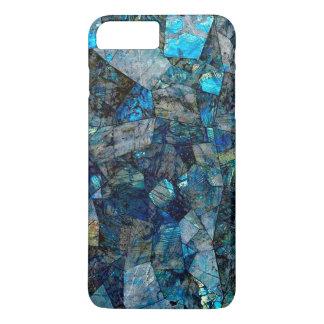 Abstraktes Labradorit-Mosaik-iPhone/Samsung iPhone 8 Plus/7 Plus Hülle