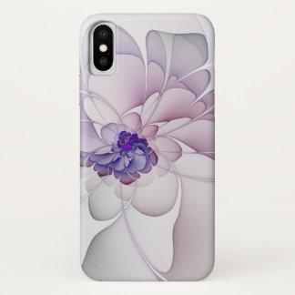 Abstraktes lila Blumen iPhone X Hülle