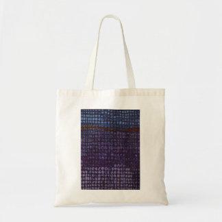 Abstraktes lila Feld-Zeichnen Budget Stoffbeutel