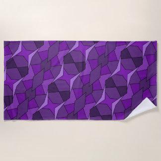 Abstraktes lila geometrisches Form-Badetuch Strandtuch