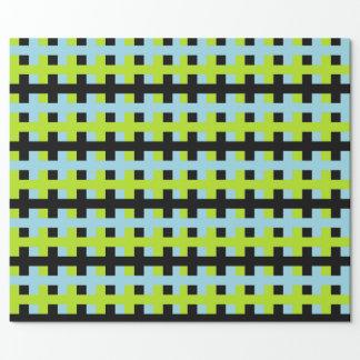 Abstraktes Limones Grün-, Schwarzes und Geschenkpapier