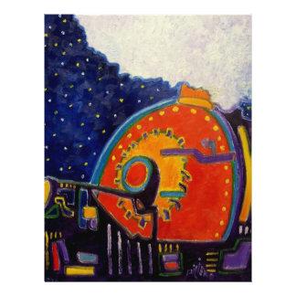 Abstraktes Loco-Motiv durch Piliero Flyerbedruckung