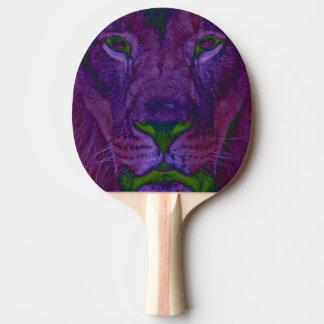 Abstraktes LöwePing Pong Paddel Tischtennis Schläger