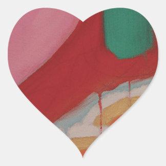 Abstraktes Malerei-Detail Herz-Aufkleber