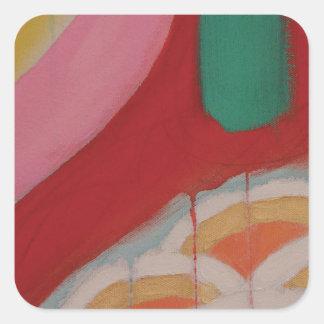 Abstraktes Malerei-Detail Quadratischer Aufkleber