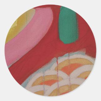 Abstraktes Malerei-Detail Runder Aufkleber
