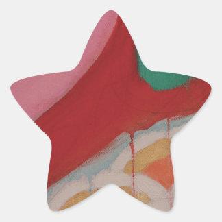 Abstraktes Malerei-Detail Stern-Aufkleber