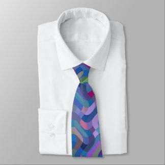 Abstraktes Mehrfarbenmuster Krawatte