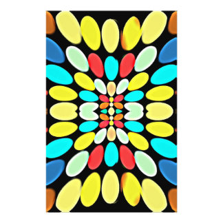 Abstraktes mehrfarbiges Blumenblatt-Muster Individuelle Flyer