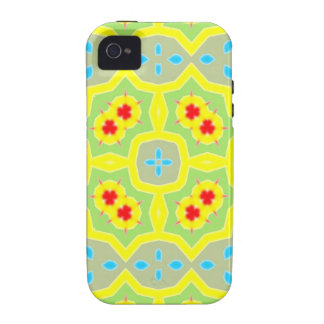 Abstraktes mehrfarbiges Muster iPhone 4 Cover