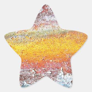 Abstraktes Metallrostige antike Kram-Art-Mode AR Stern-Aufkleber