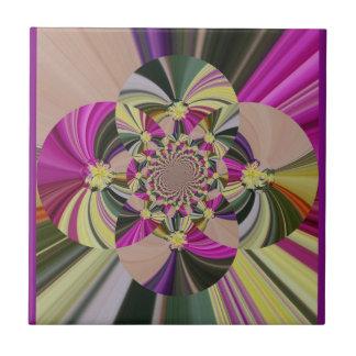 Abstraktes mit Blumenmuster Keramikfliese