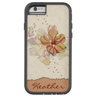 Abstraktes mit Blumenpersonalisiertes Tough Xtreme iPhone 6 Hülle