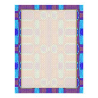 Abstraktes modernes Muster blaues lila Brown 21,6 X 27,9 Cm Flyer