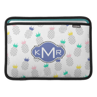 Abstraktes Monogramm der Ananas-| MacBook Air Sleeve