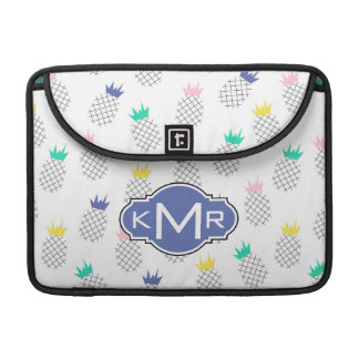 Abstraktes Monogramm der Ananas-| MacBook Pro Sleeve