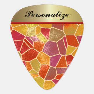 Abstraktes Mosaik-bunter Entwurf | personifizieren Plektrum