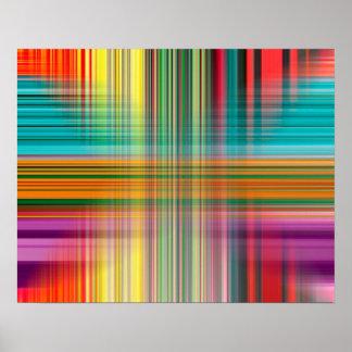 Abstraktes Muster-bunter Hintergrund Poster