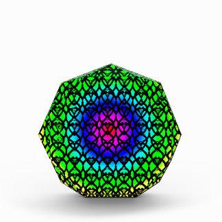 Abstraktes Muster des bunten Kreis-Regenbogens Auszeichnung
