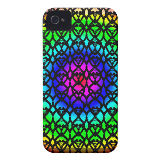 Abstraktes Muster des bunten Kreis-Regenbogens iPhone 4 Case-Mate Hülle