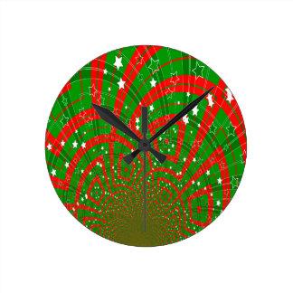 abstraktes Muster des Hintergrundes Weihnachts Runde Wanduhr