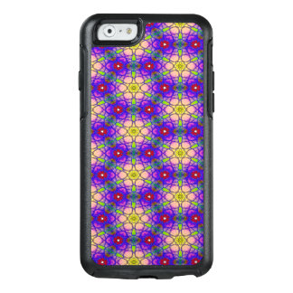 Abstraktes Muster-hübsche grüne Flieder und Rot OtterBox iPhone 6/6s Hülle