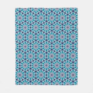 Abstraktes Muster in Blauem und in Grauem Fleecedecke
