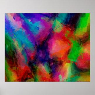 Abstraktes Muster-multi Farbhintergrund Poster