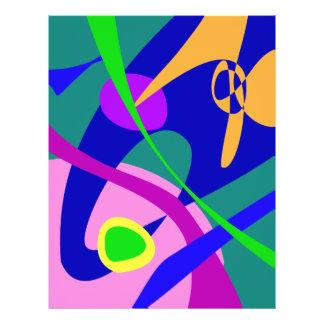 Abstraktes Muster philosophischer Mann-Digital Flyerdesign