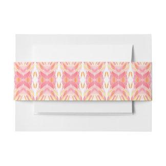 ABSTRAKTES MUSTER rosa/gelbes Einladungsbanderole