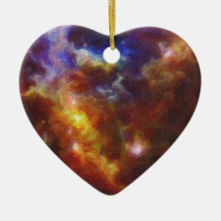 Abstraktes Nebulla mit galaktischer kosmischer Keramik Ornament