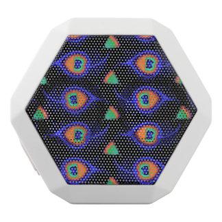 Abstraktes Neon mag Pfau-Feder-Muster Weiße Bluetooth Lautsprecher