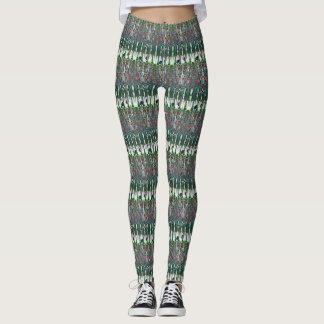 Abstraktes Nussknacker-Kuss-Musical-Muster Leggings